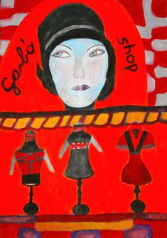 garbó – 'magas, visszahajtható nyakú pulóver'. A svéd származású amerikai filmcsillag, Greta Garbo nevéből, ugyanis ő hozta divatba ezt a viseletet. Korn, Pop Art, Painting, Shopping, Painting Art, Paintings, Painted Canvas, Art Pop, Drawings