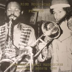 The artwork for the vinyl release of: Rico Rodriguez and Friends - Unreleased Early Recordings: Shuffle and Boogie 1960 (Dub Store) #music Dub