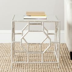 Safavieh Treasures Rory Silver/ Mirror Top Accent Table - Overstock $132 19 inches high x 19 inches wide x 19