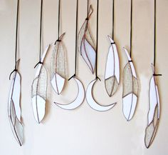 Classic Stained Glass Feather white collection by ColinAdrianGlass
