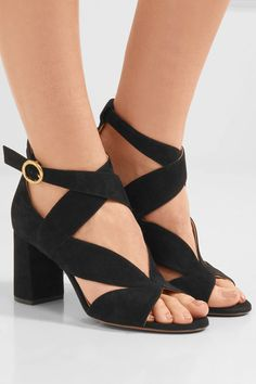 CHLOÉ Graphic Leaves suede sandals