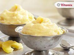 """Vitamix Recipes. Instant Vegan Pineapple Frozen """"Yoghurt"""" Freeze. This is SOOO good!"""