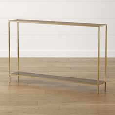 Shop Jacque Brass Console Table. The Jacques Console Table is a Crate and Barrel exclusive.Check out our ideas and advice for .