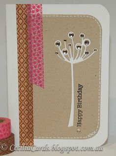 Cecilia's Cards: Pink and Brown