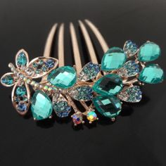 6pcs/lot Free Shipping Wedding Party Woman Hair Jewelry Hair combs. Crystal Flower hair slides Hair pins Girls hair accessory $17.66