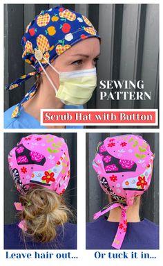 The Coolest Custom Frog Masks Designed By HAAaaa … Artistic Crochet & Cosplay Hook Up! Scrubs Pattern, Scrub Hat Patterns, Hat Patterns To Sew, Sewing Patterns Free, Free Sewing, Hat Pattern Sewing, Chemo Caps Pattern, Mascara 3d, Nurse Hat
