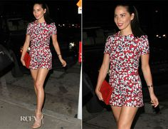 Olivia Munn In Mary Katrantzou – Out In West Hollywood