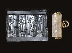 Ancient & Medieval History - Neo-Babylonian Chalcedony Cylinder Seal, c. 750-600 BC