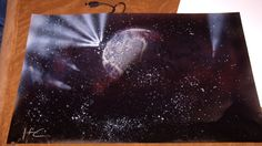 spray paint art | My very first spray paint space art painting