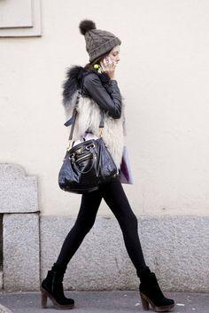 Milan Fashion Week Fall 2012 Street Style.