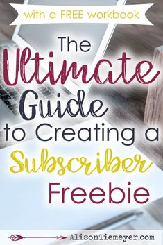 Your free offer is just that - an offer. This means it needs to be valuable, authentic, well-designed, and excellent! Think you may need to recreate your subscriber freebie? Need help designing your first ever free offer? Grab the FREE workbook and comprehensive guide here!