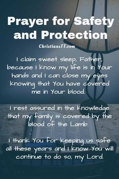 Prayer for safety and protection