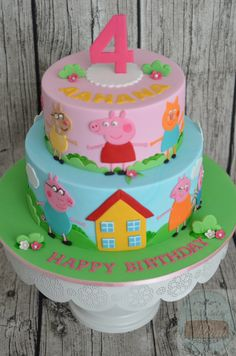 Place a new celebration that is certainly uncomplicated, elegant, and also great! Minor piggies will Peppa Pig Birthday Cake, Birthday Cake Girls, 3rd Birthday, Birthday Celebration, Tortas Peppa Pig, Peppa Pig Cakes, Friends Cake, Pig Party, Novelty Cakes