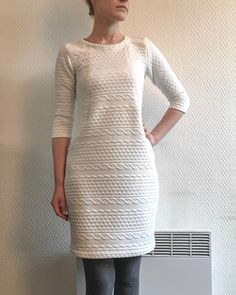 A final sweater dress for this dreary 💦❄️☁️ weekend weather - my Heather Dress in this oh so soft cable knit from… Weekend Weather, Sew Over It, Dress Making Patterns, Dressmaking, Cable Knit, Sewing Patterns, Winter Fashion, Tunic Tops, Dress Sewing