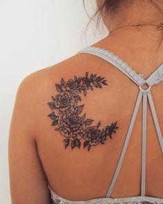 "1,073 Likes, 12 Comments - Sabrina Avakian (@sabootattoos) on Instagram: ""For Alanna :) Thank you !!! #rose #rosetattoo #moontattoo #flowermoon #flowertattoo #tattoo…"""
