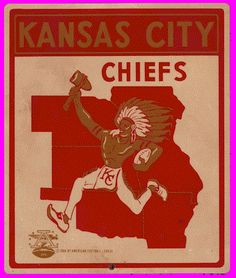 The American Football League's Kansas City Chiefs logo American Football League, Kansas City Chiefs Football, Kansas City Royals, National Football League, Nfl Chiefs, Alabama Football, Football Team, Brand Identity Design, Frases