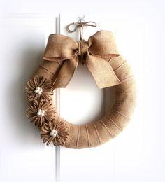 Everyday Wreath  Burlap Wreath  Rustic by WeddingsAndWreaths, $36.50
