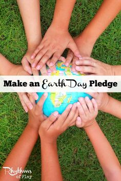 Make an Earth Day Pledge this year. Celebrate Earth Day by making a pledge to planet earth. The idea is to make a promise of some kind to planet Earth. This Earth Day activity helps kids understand that they can make positive changes to help make this world a better place to live. Click through for lot's of great ideas!