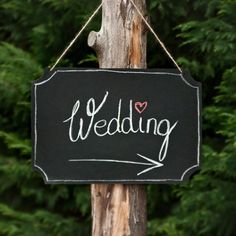 Panneau directionnel mariage