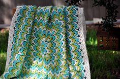 Bargello Blanket by Elena Fedotova
