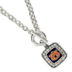 "$5.50 18"" Crystal Accented Auburn University Necklace"