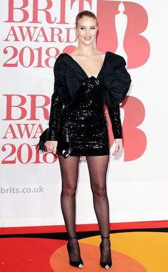 Rosie Huntington-Whiteley from BRIT Awards Red Carpet Fashion