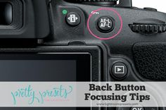 What is Back Button Focusing? A handy feature on your camera you may not be familiar with is back button focus, often referred to as back button AF. Dslr Photography Tips, Photography Tips For Beginners, Photography Lessons, Photography Equipment, Photography Business, Photography Tutorials, Photography Hashtags, Digital Photography, Newborn Photography