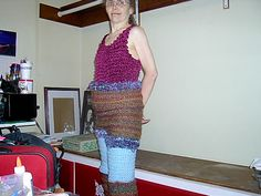 homemade knitted pants