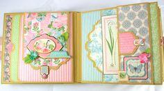 8x8 Botanical Tea Mini-Album PDF Tutorial by SoMuchScrap on Etsy