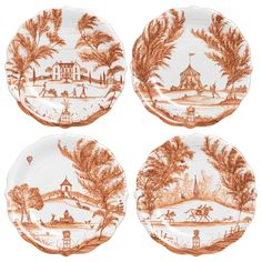 Country Estate Autumn Party Plate Set of 4