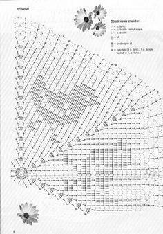 Make for felt side of Lucas blanket Filet Crochet, Crochet Doily Diagram, Crochet Doily Patterns, Crochet Chart, Crochet Motif, Crochet Designs, Crochet Lace, Crochet Dollies, Crochet Birds