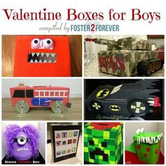 Check out these great ideas for Valentines Day boxes for boys! #ValentinesDay #craft