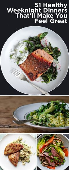 51 Healthy Weeknight Dinners That'll Make You FeelGreat Chicken, Salmon and more: www.c… 51 Healthy Weeknight Dinners That'll Make You FeelGreat Chicken, Salmon and more: www. Healthy Cooking, Healthy Snacks, Healthy Eating, Cooking Recipes, Healthy Recipes, Healthy Dinners, Cooking Tips, Healthy Options, Easy Healthy Weeknight Dinners