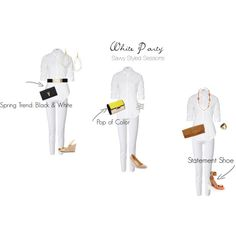 """White Party 1"" by savvystylist on Polyvore"