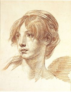 Jean-Baptiste Greuze, Head of a Young Girl, c. 1765