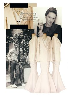 Anna Vedeneeva Couture collage with Diana Vreeland as a muse.