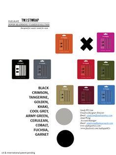 BLACK Crimson,  Tangerine,  Golden,  Khaki,  Cool grey,  Army green,  Cerulean,  Cobalt,  Fuchsia,  Garnet