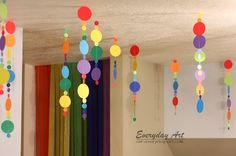 Rainbow Birthday Party by Everyday Art Rainbow Birthday Party, Birthday Parties, Ants, Paper Flowers, Neon, Sunshine, Garlands, Gardens, Anniversary Parties
