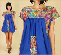 Vestidos Mexicanos De Wanessa Monteiro Modelo San Antonio - R$ 260,00