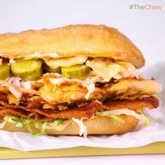 Karissa Cooney's #SpicyChicken and Slaw #Sandwich! #TheChew