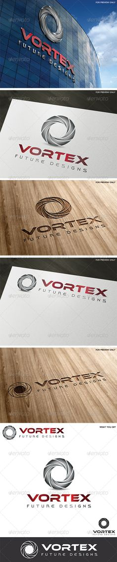 Vortex Logo Template  #GraphicRiver         A clean symmetrical logo with a 3D effect, can easly fit to many businesses and companies.  	 • Fully vecto