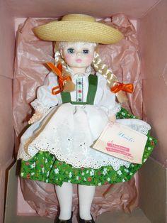 """Super Mint in Original Box MADAME ALEXANDER Doll Heidi 14"""" Tall."""