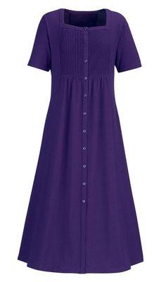 Fabulous Fuss-Free Dress. Jersey knit cotton in 5 colors.