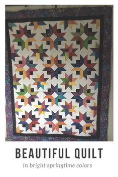 Bright, colorful, star quilt found on Etsy. Cozy beauty. #AD