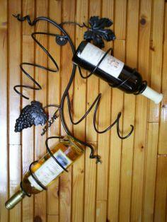 Kulonlegesvasak - Fali 4-es bortartó., Férfiaknak, Otthon, lakberendezés, Megrendelhető ez a kézzel készített egyedi fali bortartó. #wine #wrought #iron Wine Rack, Neon, Storage, Diy, Furniture, Home Decor, Beach Homes, Purse Storage, Do It Yourself