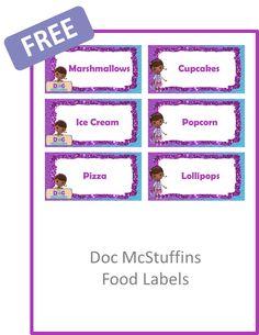 doc mcstuffins food labels