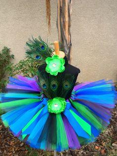 Peacock tutu set