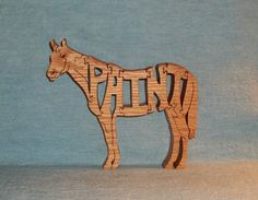 Scroll Saw Wooden Puzzles | Paint Horse Scroll Saw Wooden Puzzle