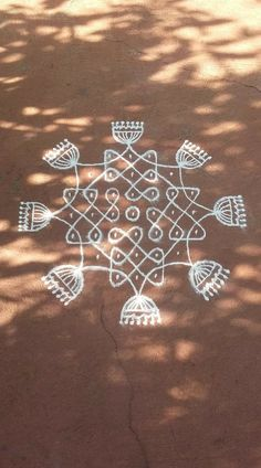 Flowers design border drawing Ideas for 2019 Rangoli Side Designs, Rangoli Designs Latest, Rangoli Borders, Small Rangoli Design, Rangoli Patterns, Rangoli Ideas, Rangoli Designs With Dots, Rangoli Designs Images, Rangoli Designs Diwali