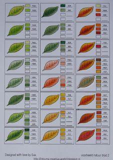Tarjetas hechas por Sas: Combinaciones Copic Color
